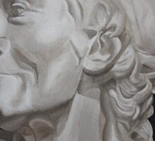 Voltaire Bust Painting Sticker
