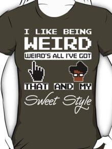 8 Bit Retro Moss I Like Being Weird T-Shirt