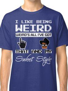8 Bit Retro Moss I Like Being Weird Classic T-Shirt