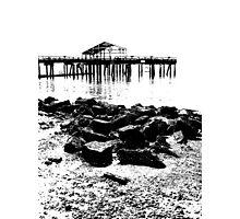 wharf meditation Photographic Print