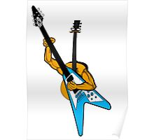 Acoustic playing electric Poster