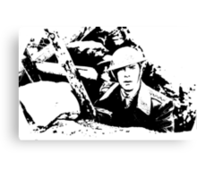Parade's end - the trench Canvas Print