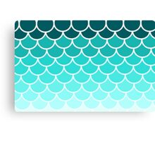 Ombre Fish Scale Pattern Canvas Print