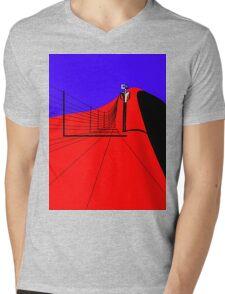 Ned walking the Fence Line Mens V-Neck T-Shirt
