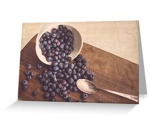Beauty of Blueberries Greeting Card
