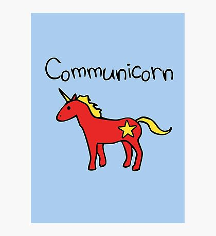 Communicorn (Communist Unicorn) Photographic Print