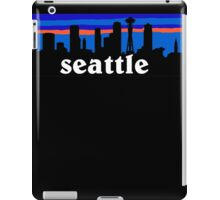 Seattle, skyline silhouette iPad Case/Skin