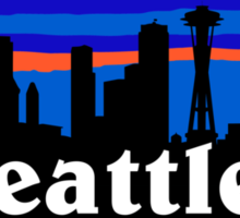 Seattle, skyline silhouette Sticker