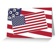 United States of Soccer Greeting Card