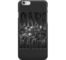 Keep Safety With Cafe Racer iPhone Case/Skin