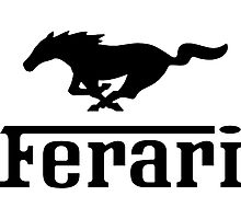Funny Ferrari Shirt Photographic Print
