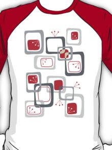 Retro Red Cherry Squares T-shirt T-Shirt