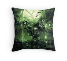 The Greenz of the Crystal Ball  Throw Pillow