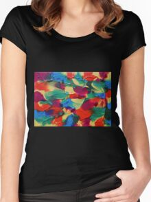 """""""Psychotropical"""" original abstract artwork by Laura Tozer Women's Fitted Scoop T-Shirt"""