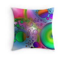 Abstract Orbs Throw Pillow