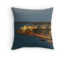 Mallory Square at Sunset Throw Pillow