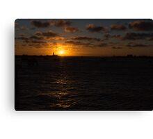 Sunset, Fremantle Harbor, W.A. Canvas Print