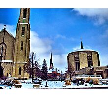 Churches in Fort Wayne Photographic Print