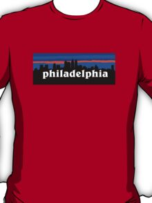 Philadelphia, skyline silhouette T-Shirt