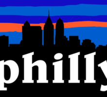 Philly, skyline silhouette Sticker