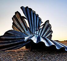 Maggi Hambling's Scallop Aldeburgh. by Wayne Bradshaw