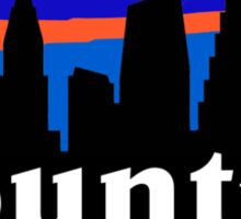 Country music. Austin skyline silhouette Sticker