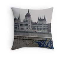 Waiting in Budapest 03 Throw Pillow