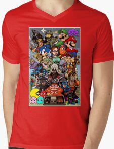 Video Game History Mens V-Neck T-Shirt