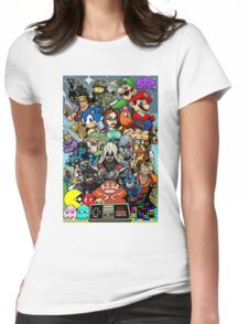 Video Game History Womens Fitted T-Shirt