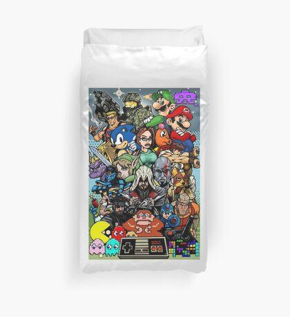 Video Game History Duvet Cover