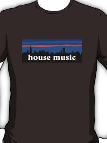 House music, Chicago skyline silhouette T-Shirt