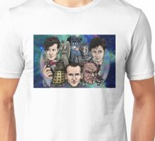 Faces Of Dr. Who Unisex T-Shirt