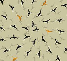 spiral birds by Vin  Zzep