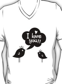 Love Birds Black T-Shirt