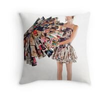 Laurie Fashion Vs Function ~norainhere Throw Pillow