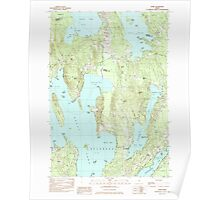 Maine USGS Historical Map Rome 102925 1982 24000 Poster