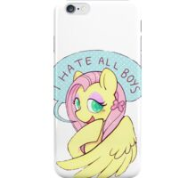 Fluttershy (I HATE ALL BOYS) iPhone Case/Skin