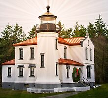 Lighthouse at Christmas by David Chappell