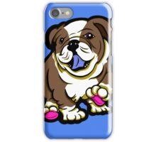Happy Bulldog Puppy Brown  iPhone Case/Skin