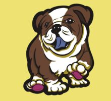 Happy Bulldog Puppy Brown  Kids Clothes