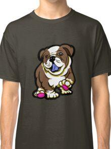 Happy Bulldog Puppy Brown  Classic T-Shirt