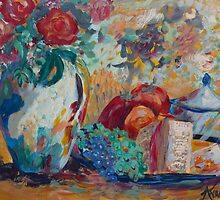Still Life with Roses by Nola Lee Kelsey