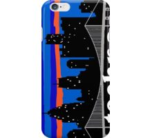 Techno, Detroit skyline silhouette iPhone Case/Skin