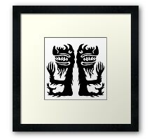 Double Beast Framed Print