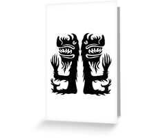 Double Beast Greeting Card