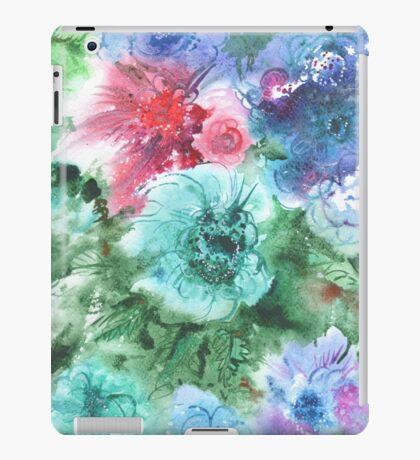 watercolor flowers iPad Case/Skin