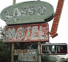 Original 66 Motel Sign Tucumcari by Paul Butler