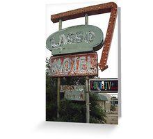 Original 66 Motel Sign Tucumcari Greeting Card