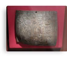 clay tablet with Goddess Hathor Metal Print