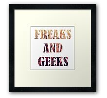 Freaks and Geeks Framed Print